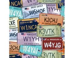 Fototapeta F2300 - Amerykańskie tablice rejestracyjne