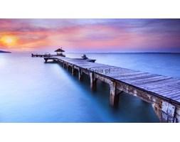 Fototapeta F3126 - Drewniane molo z zachodem słońca w tle