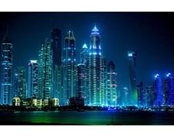 Fototapeta F3061 - Drapacze chmur w Dubaju nocą