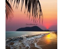 Fototapeta F2453 - Tropikalna plaża z czerwonym słońcem