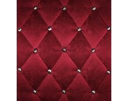 Fototapeta F2661 - Czerwona tkanina z metalowymi gałkami