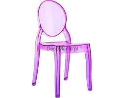 Krzesło - Siesta - Baby Elizabeth - różowe przezroczyste