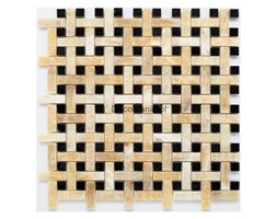 Mozaika kamienna Zen - Dunin - Honey Onyx BW01