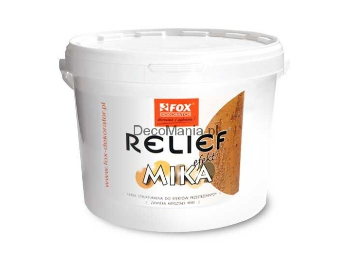 Farba Strukturalna Fox Dekorator Relief Efekt Mika 10l
