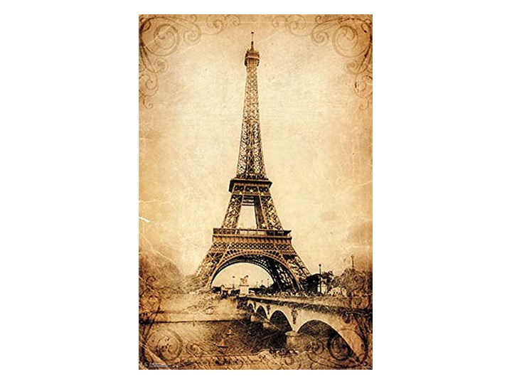 Paryż Wieża Eiffla Vintage Plakat