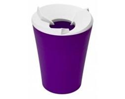 Kosz na odpadki RECYKLING - fioletowy