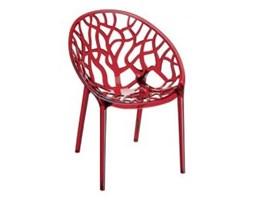 Krzesło Crystal czerwone - przezroczyste