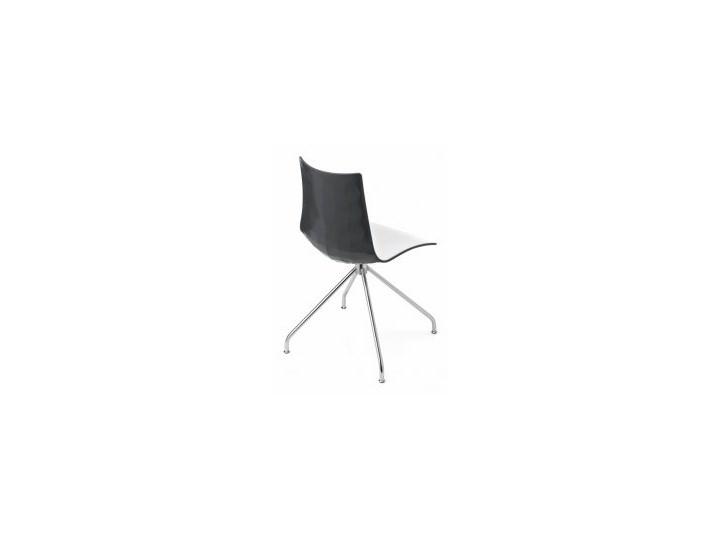 Krzesło Zebra Bicolore Obrotowe Biało Szare Krzesła Kuchenne