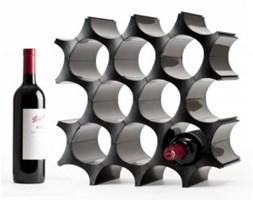 Stojak na wino KOMÓRKI - czarny