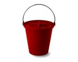 Wiadro-kosz Authentics H2O - 13 l, czerwony