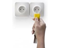 Wieszak na klucze KONTAKT żółty