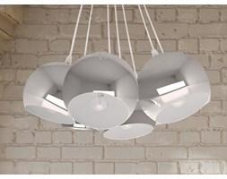 Nowoczesna lampa sufitowa wiszaca - zyrandol w kolorze srebrnym - oswietlenie - OLZA