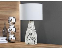 Nowoczesna lampka nocna - lampa stojaca w kolorze bialym - LENA