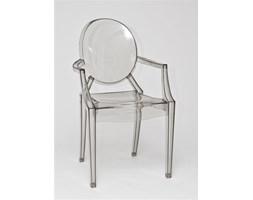 Krzesło Royal inspirowane Louis Ghost Szary Transparent
