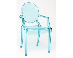 Krzesło Royal inspirowane Louis Ghost Niebieski Transparent