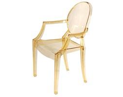 Krzesło Royal inspirowane Louis Ghost Żółty Transparent