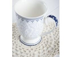 Kubek porcelanowy DUO KARYNTIA 270 ml -- biały niebieski