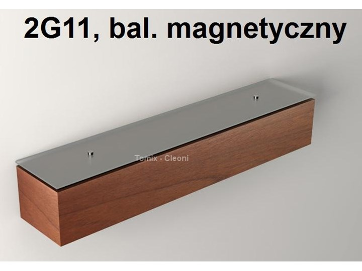 Kinkiet Caspe 60 Z Dolnym I Górnym Szkłem 1 X 55w 2g11 Bal Magnetyczny Kolor Zebrano Zebrano Jasne Dąb Orzech Jasny Kc700d8808bs 3 8211