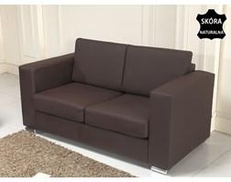 Skórzana sofa dwuosobowa brazowa - kanapa - HELSINKI