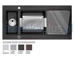 Zlewozmywak granitowy 1,5-komorowy grafit metalik Deante Modern ZQM G513