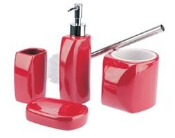 Zestaw łazienkowy LINEO czerwony.
