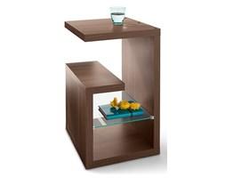 Stolik ze szkła, brązowy