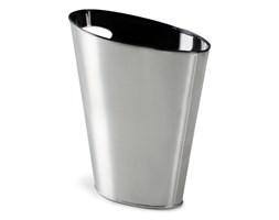 Umbra Skinny Srebrno czarny Kosz Na Śmieci 7.5 Litrów Metal - 082625-047