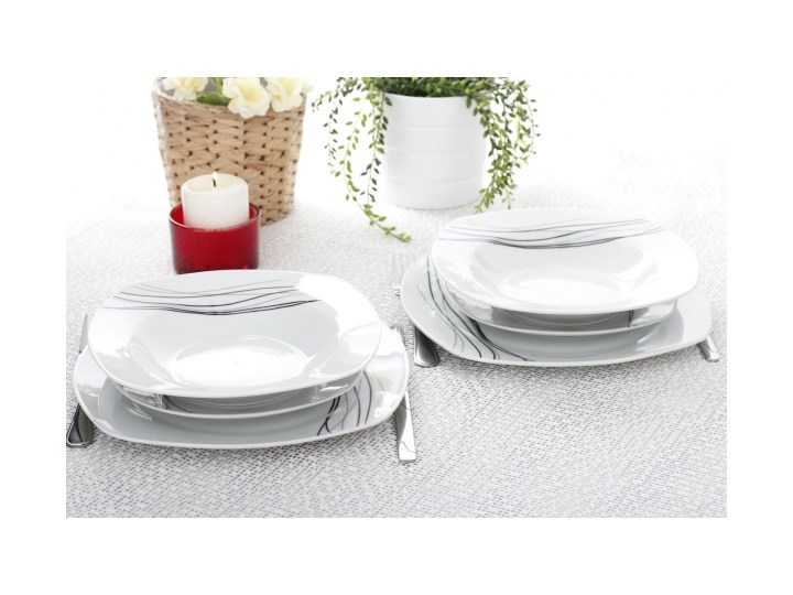 Serwis Obiadowy Kwadratowy Casa Moderna Lenza Na 6 Osób 18 El