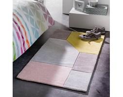 Dywanik przed łóżko, z bawełny, tuftowany, graficzny wzór, Dario