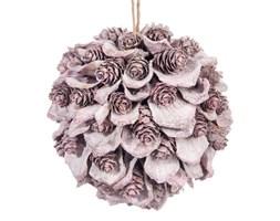 Dekoracyjna różowa kula z szyszkami 10 cm