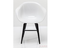 Krzesło with Armrest Black Forum Matt White - 79433