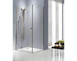 Radaway Essenza KDJ kabina prostokątna 100x90 lewa drzwi jednoczęściowe otwierane chrom przeźroczyste Easy Clean 32845-01-01NL