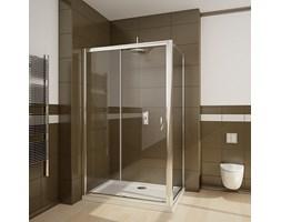 Radaway Premium Plus S ścianka boczna 100cm do kompletowania z drzwiami wnękowymi Premium Plus DWJ chrom brązowe Easy Clean 33423-01-08N