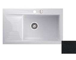 Marmorin Halit zlewozmywak granitowy 1 komora z ociekaczem kolor czarny 520 113 002