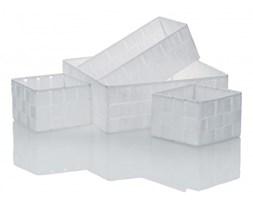 Kela Alvaro zestaw 4 koszyki łazienkowe biały 22705