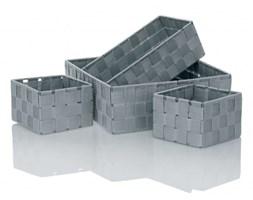 Kela Alvaro zestaw 4 koszyki łazienkowe szary 22707