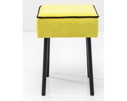 Kare Design Pipe Lime Żółty Stołek Mdf Drewno Tkanina 45 cm - 79327
