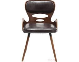 Kare Design East Side Brązowe Krzesło Z Podłokietnikami Drewno Skóra - 79232