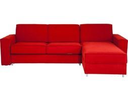 Kare Design Mono Ottoman Czerwony Narożnik Rozkładany Prawy Tkanina - 79421