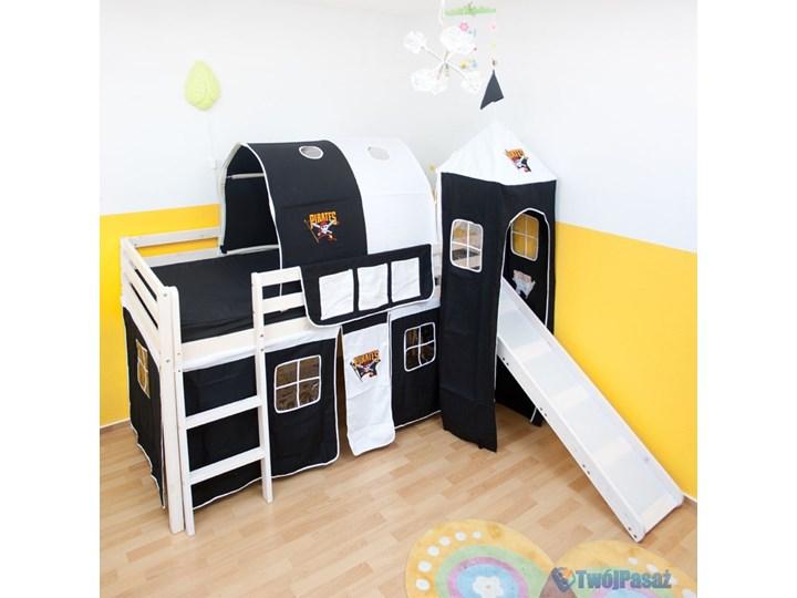 łóżko Piętrowe Dla Dzieci Pirat Z Zjeżdżalnią Wieżą I Tunelem Białe