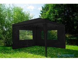 Pawilon ogrodowy automatyczny 3x3 m + 2 ścianki, czarny