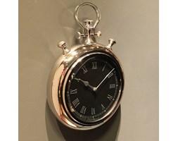 Zegar wiszący duży w kolorze srebrnym