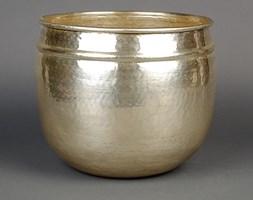Mosiężna osłona w kolorze srebrnym średnia