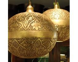 Mosiężna lampa wisząca w kolorze antycznego złota
