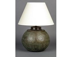 Mosiężna lampa stołowa w kolorze ciemnobrązowym