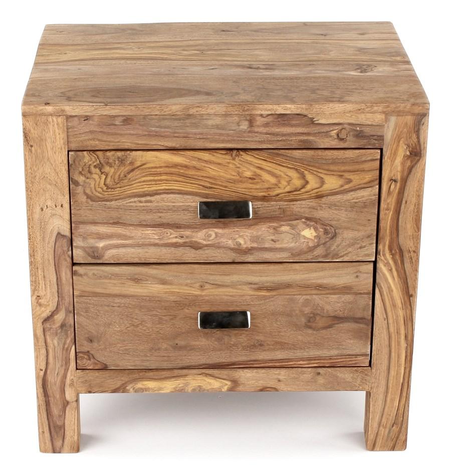 wolf m bel yoga drewniany stolik nocny z 2 szufladami. Black Bedroom Furniture Sets. Home Design Ideas