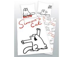 Dwustronna pościel bawełniana 140x200 + 70x80 Simon's Cat - kot Simona