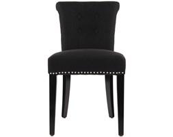 EICHHOLTZ Key Largo Krzesło Czarne Tkanina Czarne Nogi - CHR07631