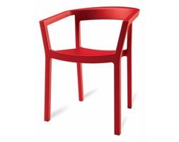 D2 Krzesło z Podłokietnikiem PEACH - Czerwone
