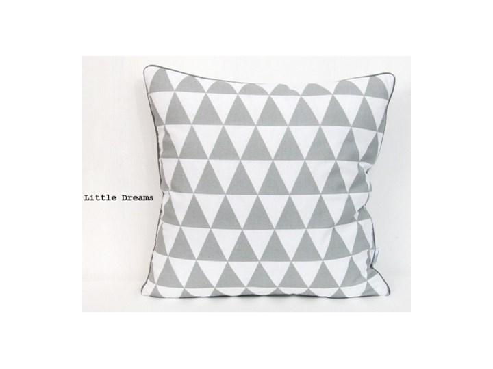 Poszewka dekoracyjna - Szare trójkąty